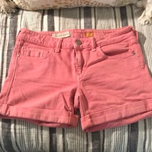 Anthro pink pilcro shorts
